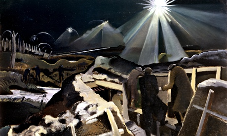 A detail from Ypres Salient at Night by Paul Nash