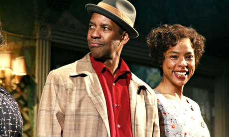 Denzel Washington and Sophie Okonedo in<br /> A Raisin in the Sun at New York's Barrymore Theatre