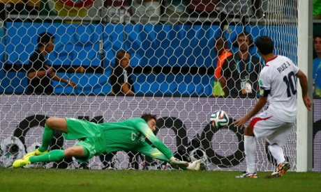Krul saves from Bryan Ruiz.
