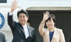 Shinzo Abe and his wife Akie leave Tokyo for their week-long visit.