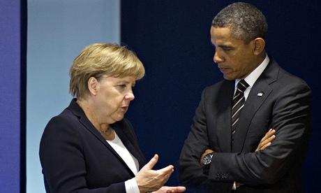 Angela Merkel with Barack Obama