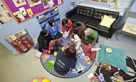 Parental 'mentors' at Sure Start Whitley Children's Centre, Reading.
