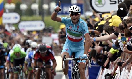 Vincenzo Nibali wins stage two