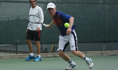 Ryan Storrie on the court