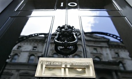The door of No 10 Downing Street