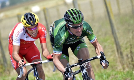 Thomas Voeckler and Luis Angel Mate Mardones in the breakaway.