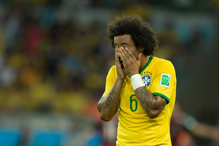Brazilians in shock: Brazil v Germany