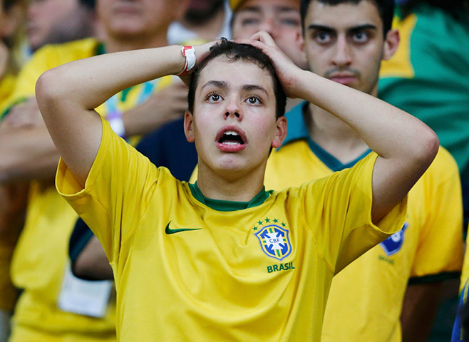 Brazilians in shock: A fan of Brazil reacts