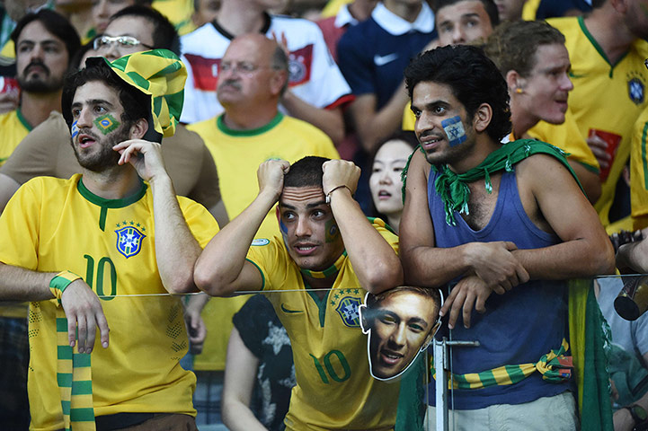 Brazilians in shock: Fans of Brazil react