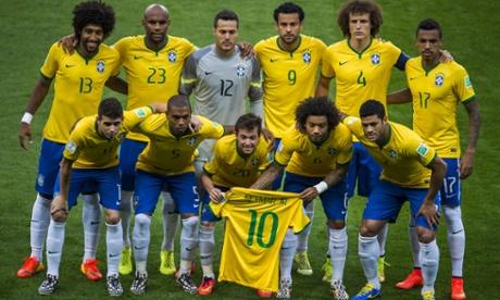 brazil team poses