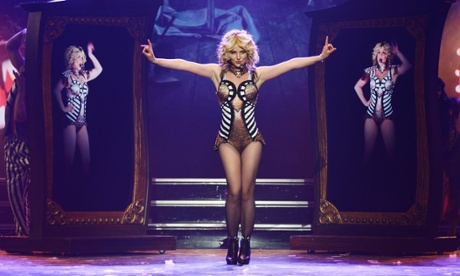 On with the show: Britney performs 'Piece of Me'.