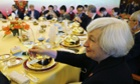 Janet Yellen at a dinner in Beijing.