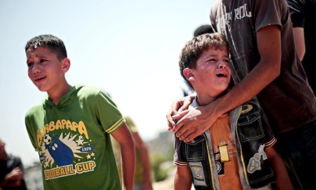 Funeral ceremony of Palestinian siblings killed in Israeli airstrikes