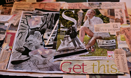 Collage made by Royal Academy community art club homeless member