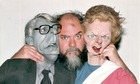 Roger Law with Major And Thatcher puppets