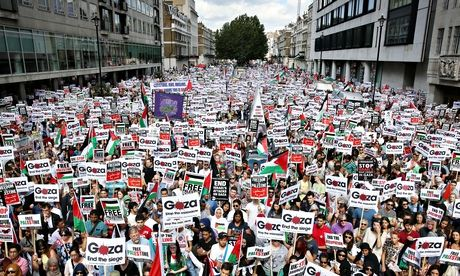 Protest in London against military action in Gaza