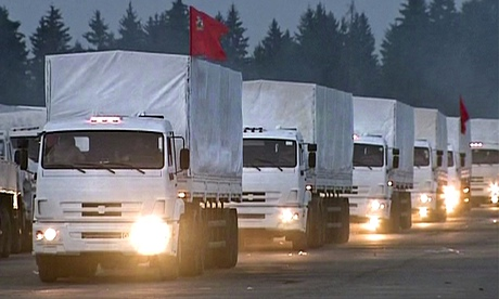 Russian aid convoy heading to eastern Ukraine