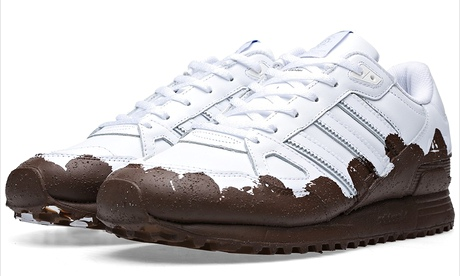 Adidas ZX750 trainers with 'handcrafted mud'.