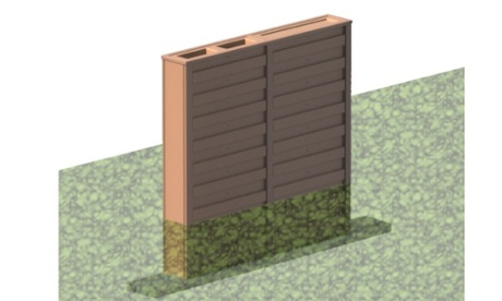 The 'cistern fence' is set deeply into the ground, giving it extra capacity.