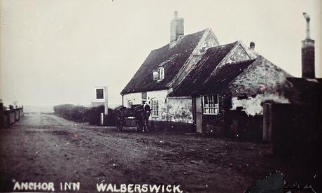 An old postcard of the Anchor Inn, Walberswick