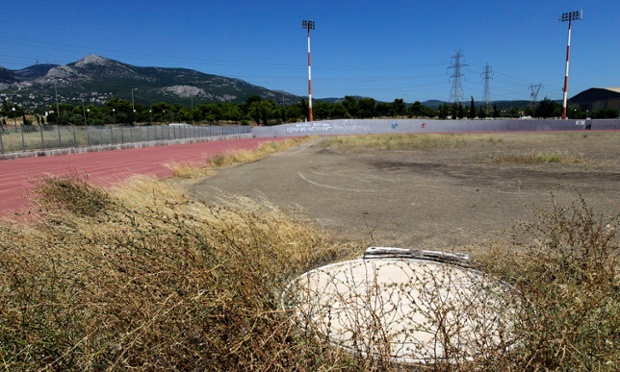 An abandoned training field at the Olympic Village