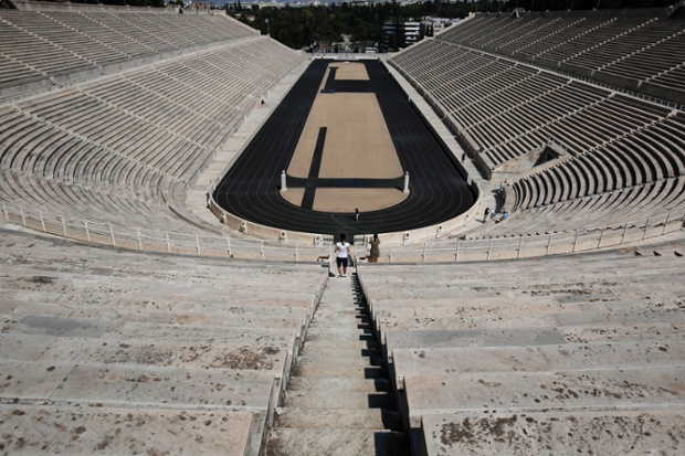 One venue that has done well post games is the  Panathenaic stadium in Athens. The old Olympic Stadium of Athens, a marble reconstruction of the city s ancient stadium built for the first modern Olympics held in Athens, is open to ticket-paying visitors who can also visit a small Olympic museum on the site.