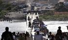 Iraq - Yazidi refugees fleeing Mount Sinjar