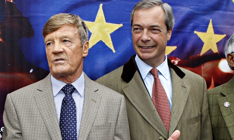 Paul Sykes with Nigel Farage at the launch of Ukip's European election campaign