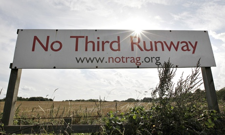 No Third Runway protest sign in Sipson