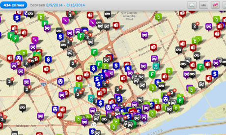 Detroit crime map