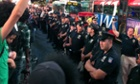 times square police protest