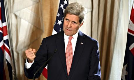 John Kerry speaks in Sydney, August 2014
