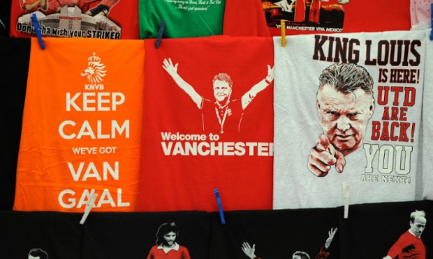 Is Louis Van Gaal the right man to lead a United revival after the disappointments of last season.  The merchandise producers seem to think so....