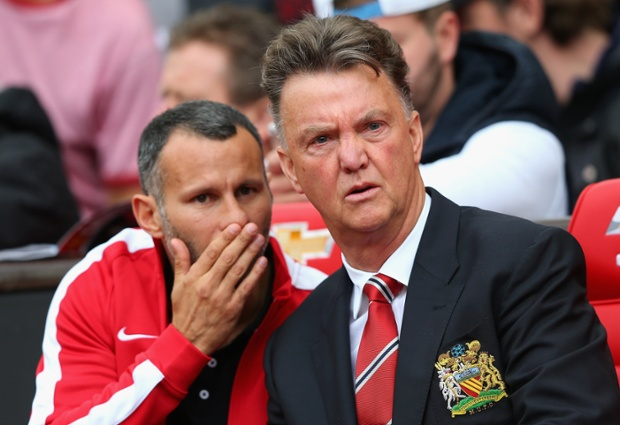 The goal has left Giggs and van Gaal plenty to think about as half time approaches.  United have lacked a cutting edge.