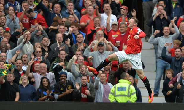The new captain celebrates, United's season has lift-off.
