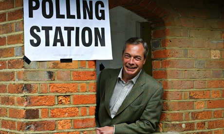 Nigel Farage polling station