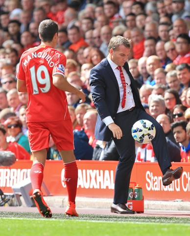 Rodgers collects the ball
