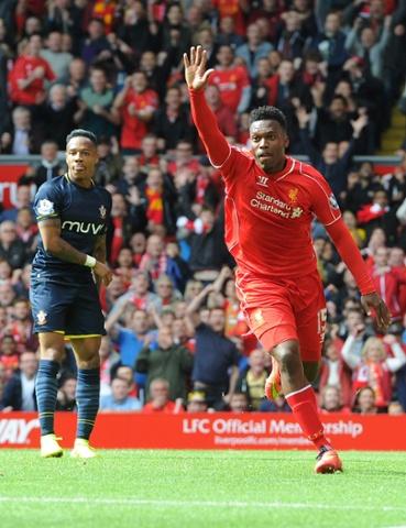 Daniel Sturridge of Liverpool celebrates