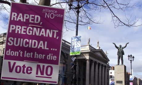 rape victim pregnant - Irish law wins