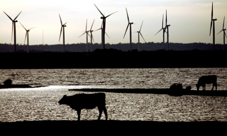 Little Cheyne Court windfarm in Camber, Kent, England. Photograph: Haydn West/Rex Features
