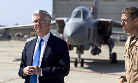 Michael Fallon visits Cyprus base