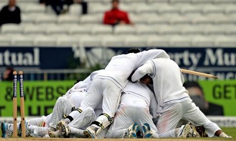 Sri Lankan players celebrate at Headingley