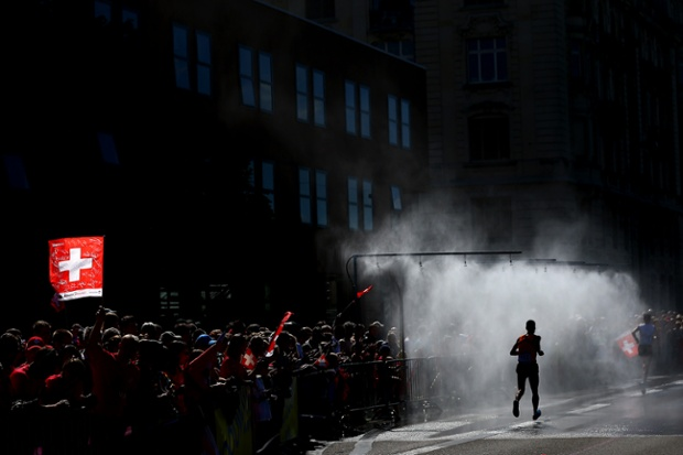 Koen Raymaekers of Netherlands competes in the Men's Marathon.