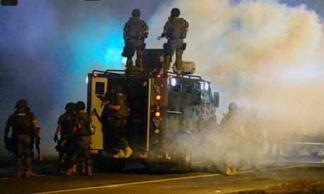 Police in teargas