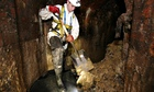 Thames Water worker removes sewer fat