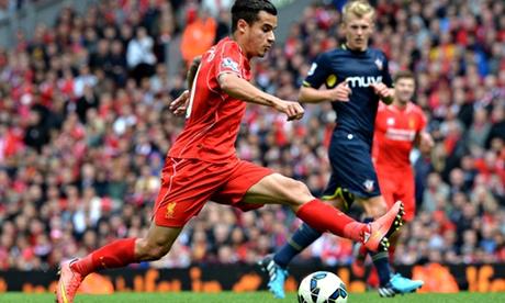 Liverpool's Brazilian midfielder Philipp