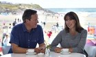 Britain's Prime Minister David Cameron and his wife Samantha