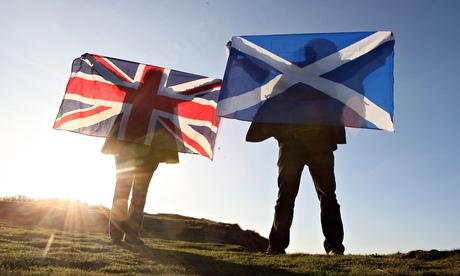 British and Scottish glags