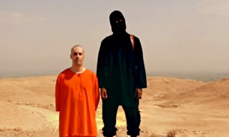 Screengrab from the ISIS video showing the execution of James Foley