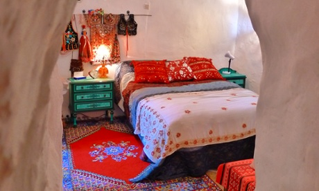 Bedroom at Malutka's Andalucían Grotto
